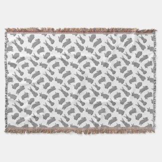 Rabbit grey throw blanket