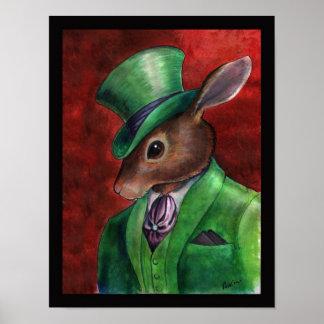 Rabbit Haberdashery by Portia St. Luke Poster