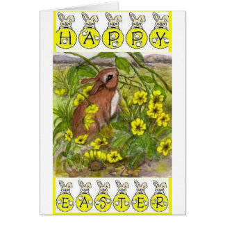 Rabbit - Happy Easter Card