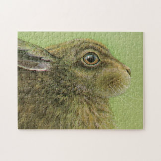 Rabbit hare fine art painting jigsaw puzzle