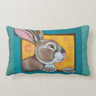 Rabbit Hare Jackrabbit Pillow Southwest Turquoise