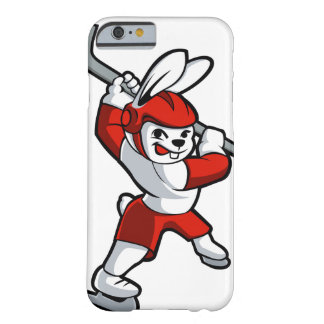 rabbit hockey cartoon barely there iPhone 6 case