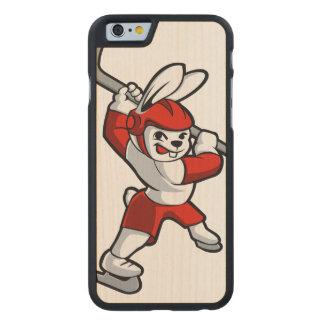 rabbit hockey cartoon carved® maple iPhone 6 slim case