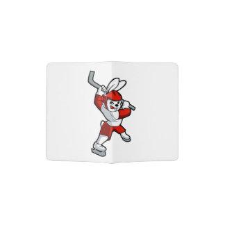 rabbit hockey cartoon passport holder