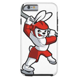 rabbit hockey cartoon tough iPhone 6 case