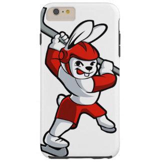 rabbit hockey cartoon tough iPhone 6 plus case