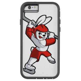 rabbit hockey cartoon tough xtreme iPhone 6 case