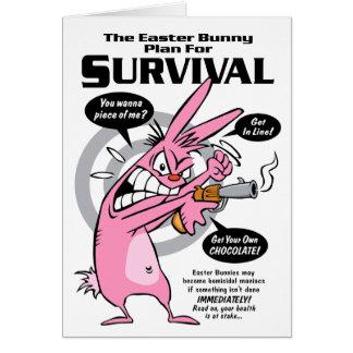 Rabbit Hunting Season Easter Greeting Card