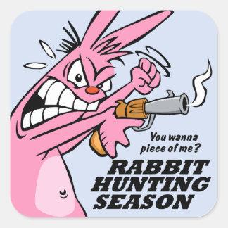 Rabbit Hunting Season Square Stickers