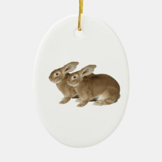 Rabbit image for Oval Ornament