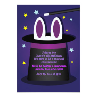 Rabbit in a Hat Magic Show Invitations