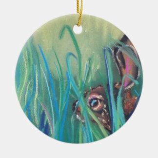 rabbit in grass ornaments