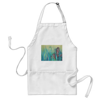 rabbit in grass standard apron