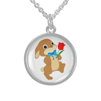 RABBIT IN LOVE STERLING SILVER NECKLACE