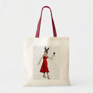 Rabbit in Red Dress 2 Budget Tote Bag