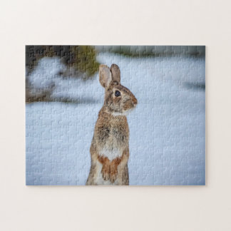 Rabbit in the snow jigsaw puzzle
