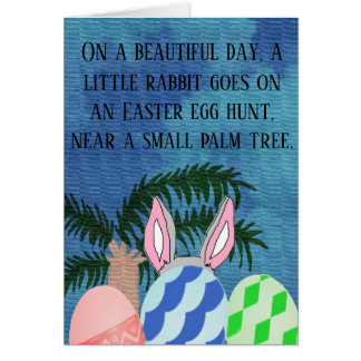 Rabbit is egg hunting card