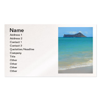 Rabbit Island Business Card Template