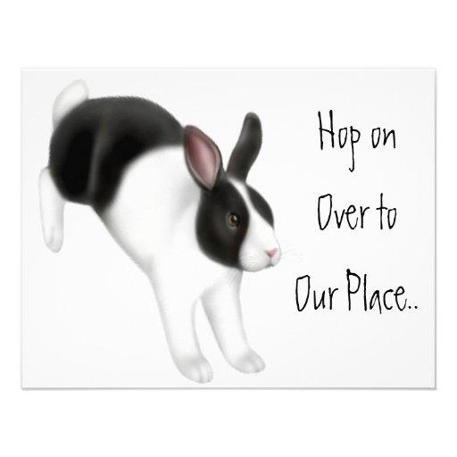 Rabbit Jumping Custom Invites