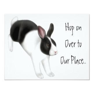 Rabbit Jumping 11 Cm X 14 Cm Invitation Card