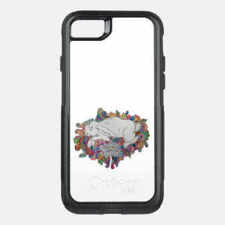 rabbit jumps daisy phone case