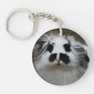 Rabbit Single-Sided Round Acrylic Key Ring