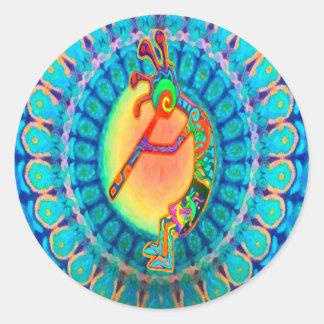 Rabbit Kokopelli Round Sticker