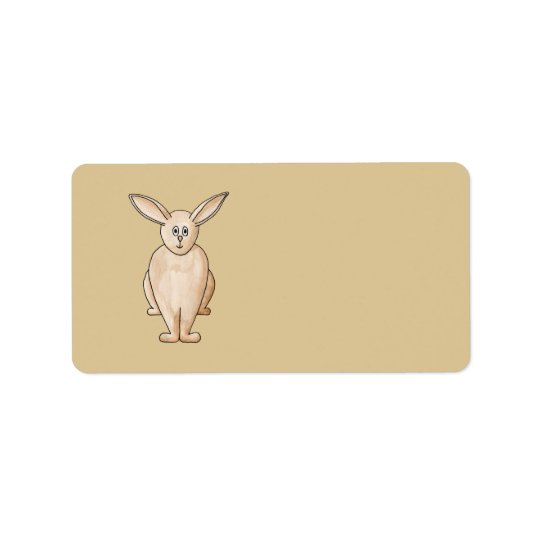 Rabbit. Label
