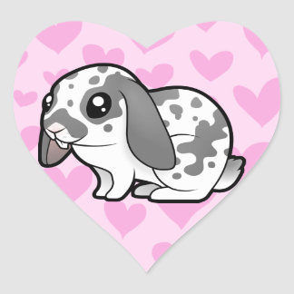 Rabbit Love (floppy ear smooth hair) Heart Sticker