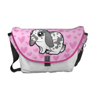 Rabbit Love (floppy ear smooth hair) Messenger Bags
