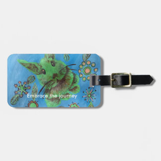 rabbit luggage tag
