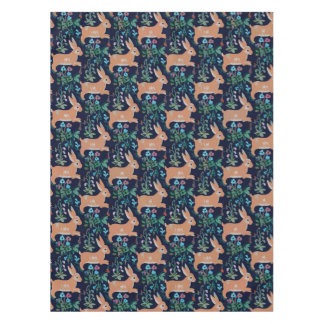 "Rabbit medieval Cotton Tablecloth, 52""x70"" Tablecloth"