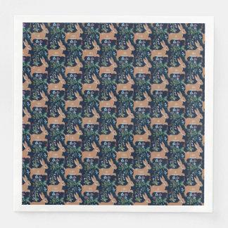 Rabbit medieval tapestry Dinner Paper Napkins