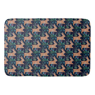 Rabbit medieval tapestry Large Bath Mat