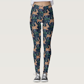 Rabbit medieval tapestry Leggings
