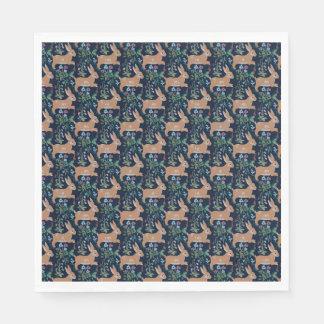 Rabbit medieval tapestry Paper Napkins