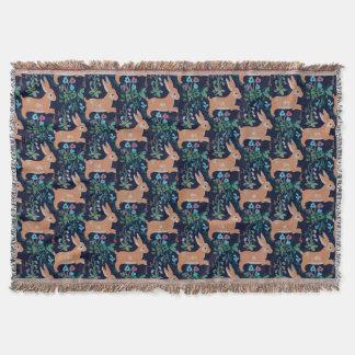 Rabbit medieval Throw Blanket