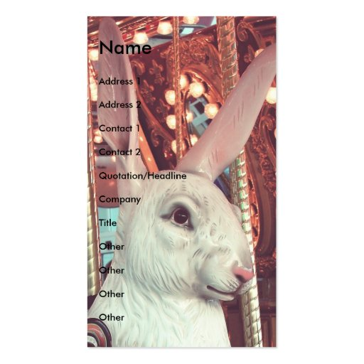 Rabbit Merry-Go-Round Business Card Template