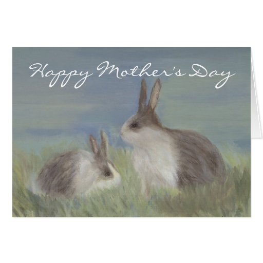 Rabbit Mother's Day Card