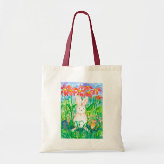 Rabbit Mouse Snail Animal Friends Flowers Tote Bag