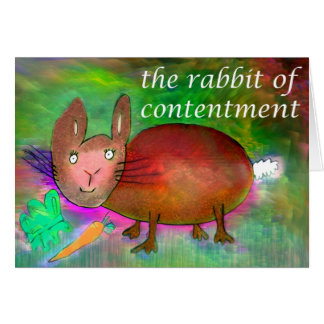 Rabbit of Contentment [card] Card