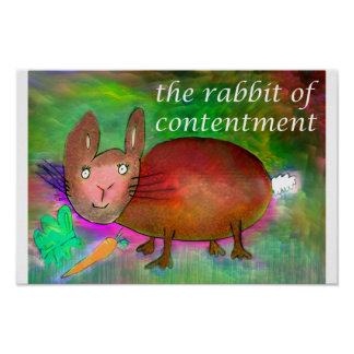 Rabbit of Contentment [poster] Poster