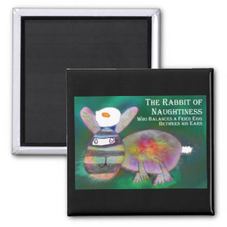 Rabbit of Naughtiness [magnet] Square Magnet