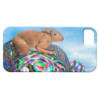 Rabbit on its colorful egg for Easter - 3D render Case For The iPhone 5