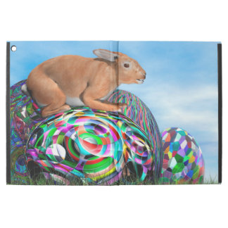 "Rabbit on its colorful egg for Easter - 3D render iPad Pro 12.9"" Case"