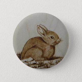 Rabbit on the rocky side... 6 cm round badge