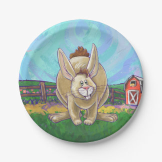 Rabbit Party Center 7 Inch Paper Plate