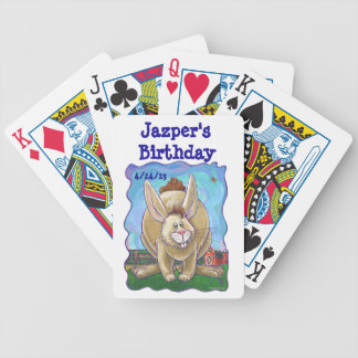Rabbit Party Center Bicycle Playing Cards