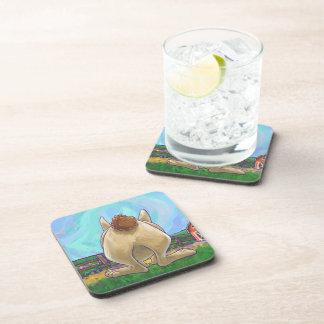 Rabbit Party Center Drink Coaster