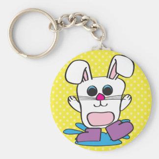 Rabbit - Puddles - Keychain